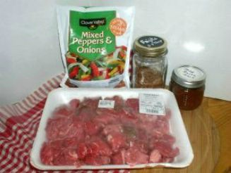 Slow Cooker Beef Fajitas Ingredients - haphazardhomemaker.com