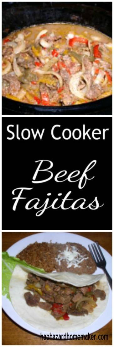 Slow Cooker Beef Fajitas - haphazardhomemaker.com