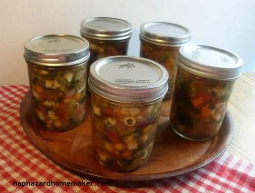 Fat Blasting Italian Soup jars, haphazardhomemaker.com