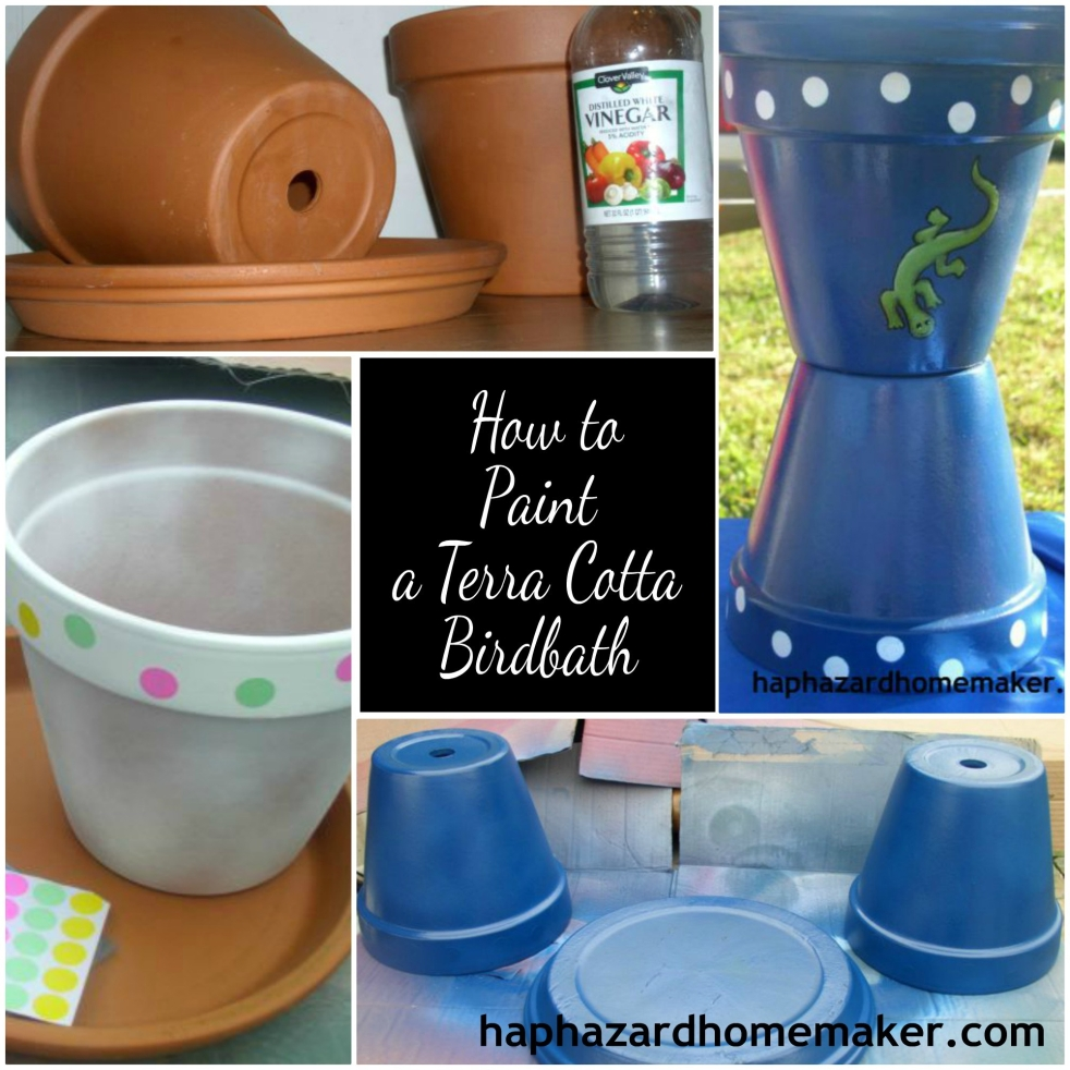 Paint a Terra Cotta Clay Pot Birdbath