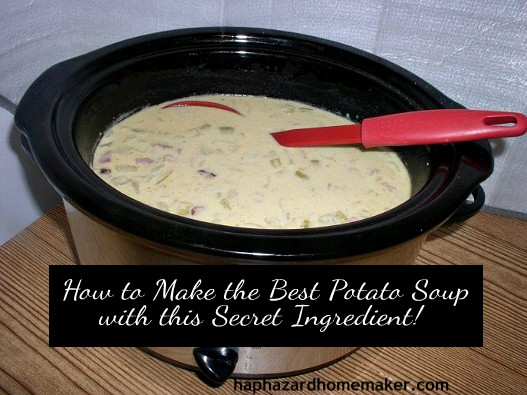 Slow Cooker Potato Soup w/Secret Ingredient