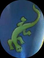 Pots Birdbath Gecko