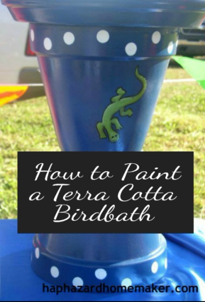How to Paint a Terra Cotta Birdbath