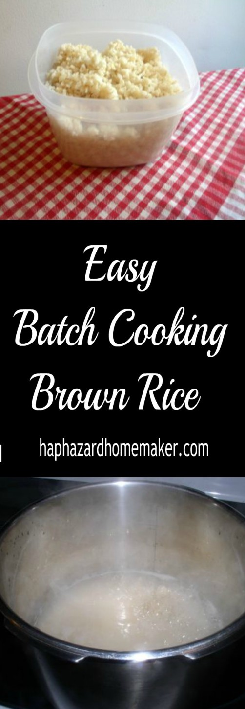 Freezer Cooking Brown Rice - haphazardhomemaker.com
