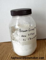 Make Your Own Brown Gravy Mix Jar - haphazardhomemaker.com