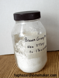 Make Your Own Brown Gravy Mix Jar - haphazardhomemaker.com