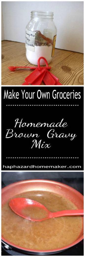 DIY Brown Gravy Mix Pin Collage - haphazardhomemaker.com