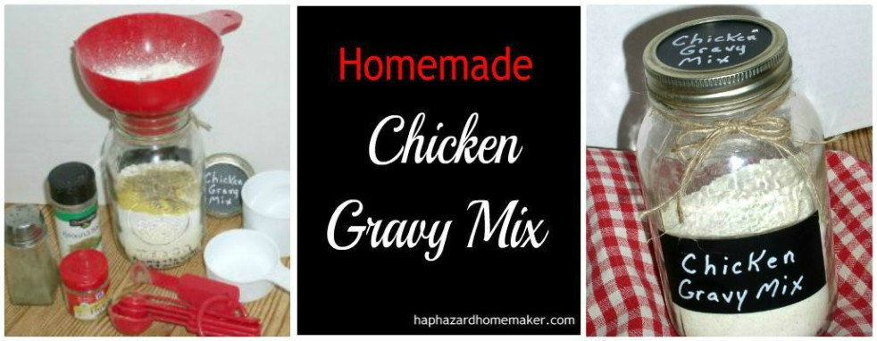 Homemade Chicken Gravy Mix FB Collage