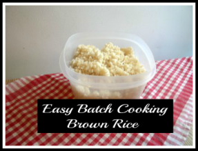Freezer Brown Rice - haphazardhomemaker.com