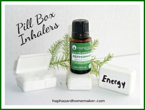 Essential Oil DIY Inhalers Pillbox -haphazardhomemaker.com
