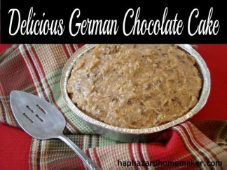 Easy German Chocolate Cake Collage - haphazardhomemaker.com