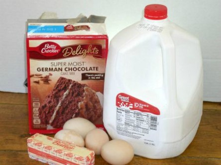 Easy German Chocolate Cake Ingredients - haphazardhomemaker.com