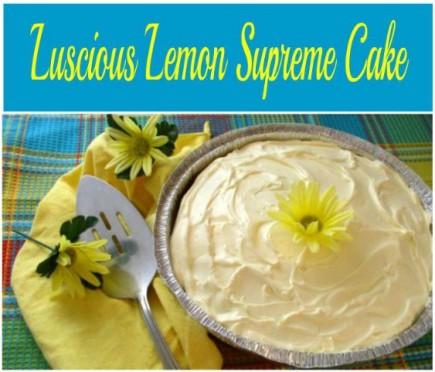 Quick and Easy Luscious Lemon Supreme Cake - haphazardhomemaker.com