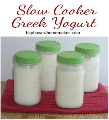 Homemade Slow Cooker Greek Yogurt