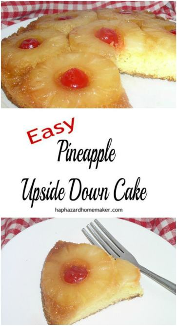 Easy Pineapple Upside Down Cake - haphazardhomemaker.com
