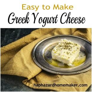 Easy to Make Greek Yogurt Cheese