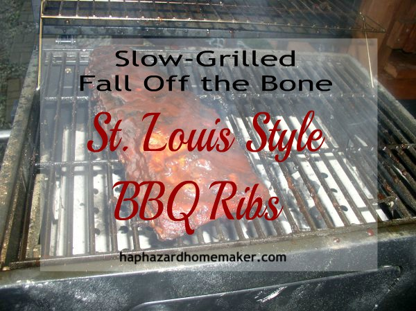 Slow-Grilled St. Louis Style BBQ Ribs- haphazardhomemaker.com