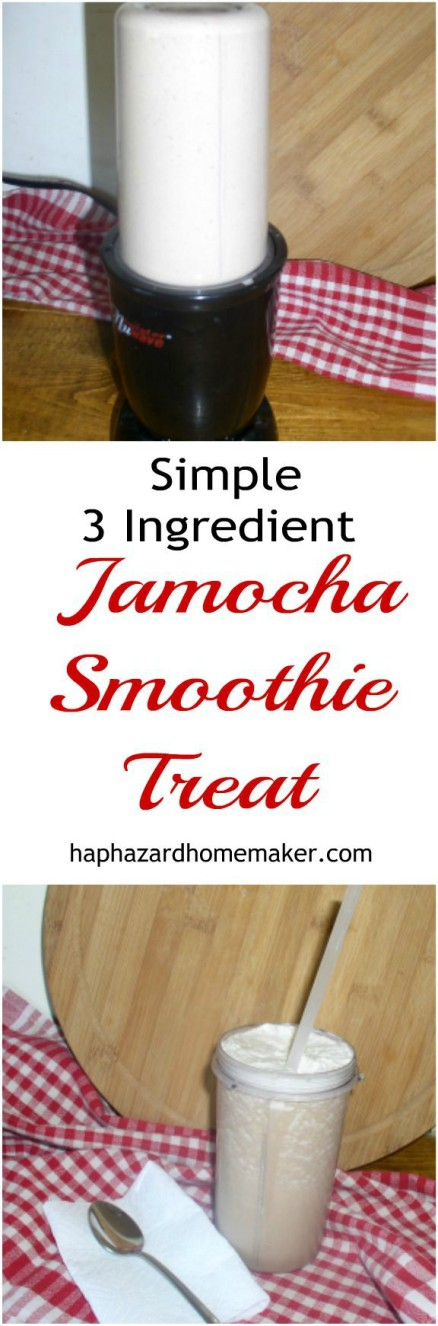 Simple 3 Ingredient Jamocha Smoothie