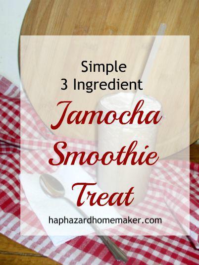 Simple 3 Ingredient Jamocha Smoothie