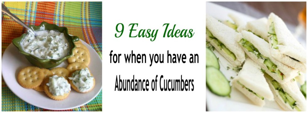 Cucumber Spread on Crackers, Cucumber Sandwiches