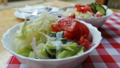 Salad with Cucumber & Tomato