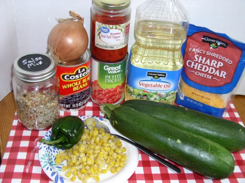 Mexican Stuffed Zucchini Ingredients - haphazardhomemaker.com