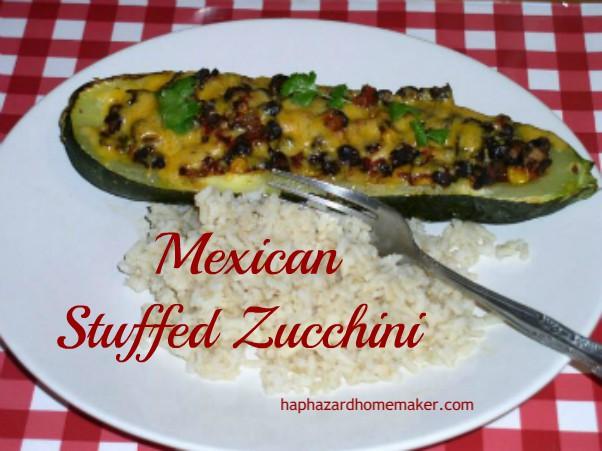 Mexican Stuffed Zucchini Burrito Boats - haphazardhomemaker.com