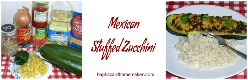 Mexican Stuffed Zucchini Boats- haphazardhomemaker.com