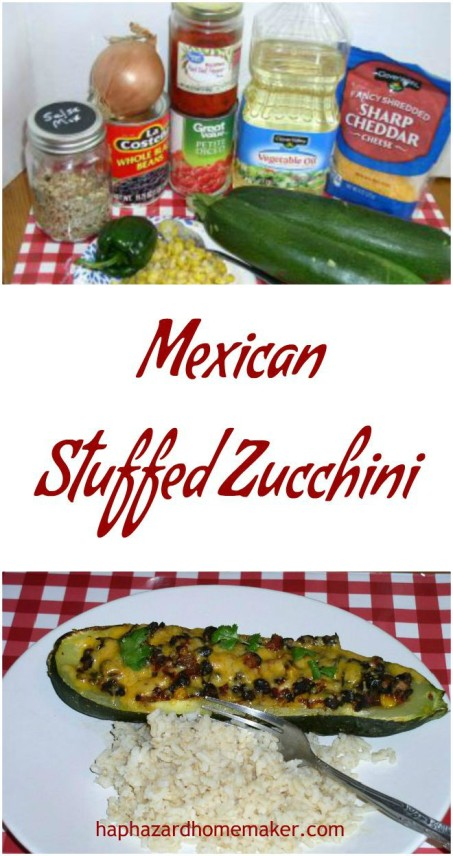 Mexican Stuffed Zucchini Burrito Boats- haphazardhomemaker.com