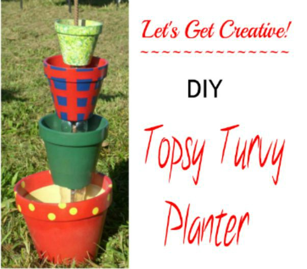Easy DIY Topsy Turvy Planter