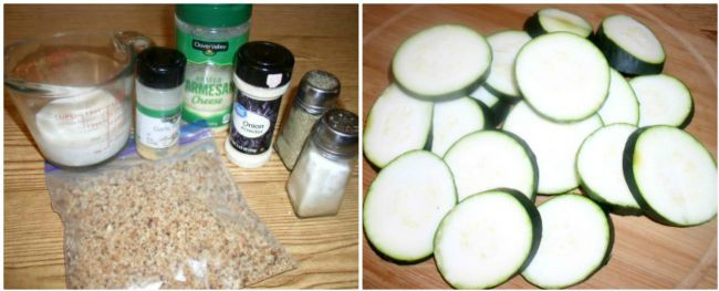 "Oven-Baked ""Fried"" Zucchini Ingredients"