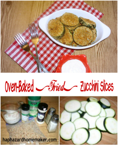 """Oven-baked """"Fried"""" Zucchini"""
