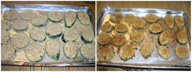 """Oven-Baked """"Fried"""" Zucchini Baking"""
