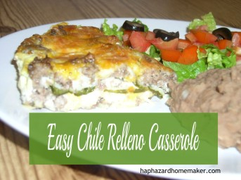 Chiil Relleno with refried beans and salad