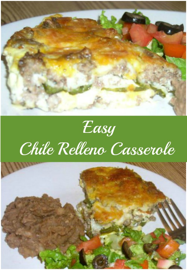Easy Chili Relleno Casserole Pin