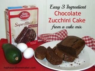 Cake mix Chocolate Zucchini Cake