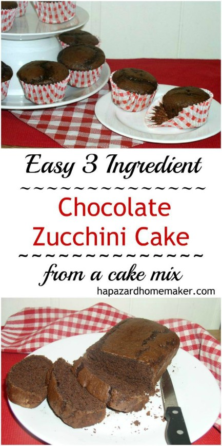 Cake mix Chocolate Zucchini Cake