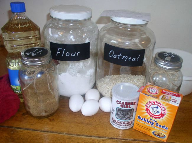 Oatmeal Muffins Ingredients