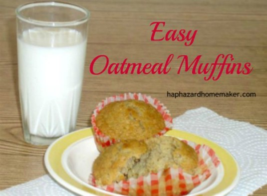 Oatmeal Muffins with a glass of milk