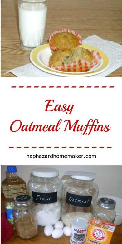 Homemade Oatmeal Muffins