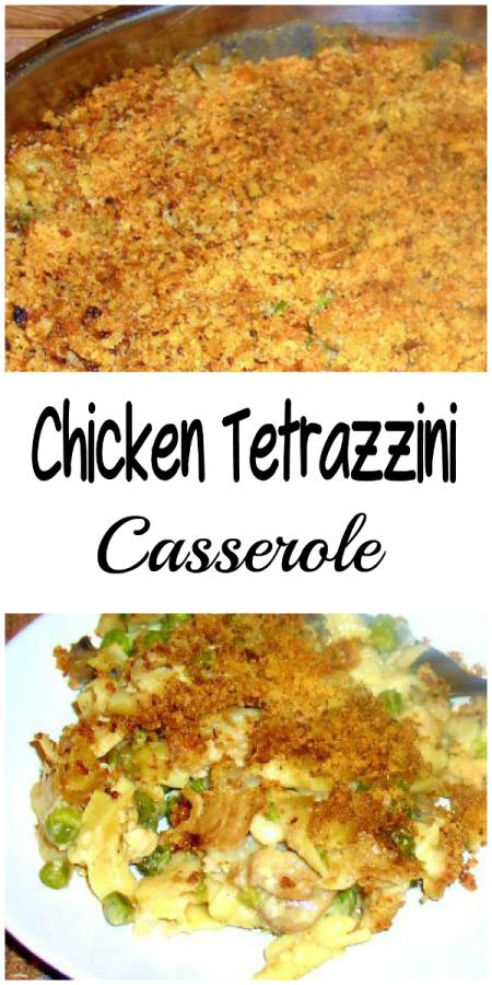 Chicken Tetrazzini Casserole - haphazardhomemaker.com