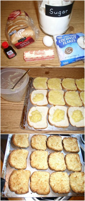 Easy to make Coconut Toast - haphazardhomemaker.com