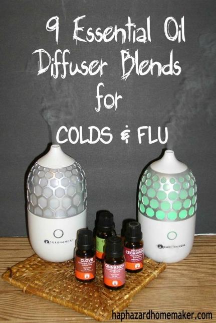 Essential Oil Diffuser Blends for COLDS & FLU - haphazardhomemaker.com