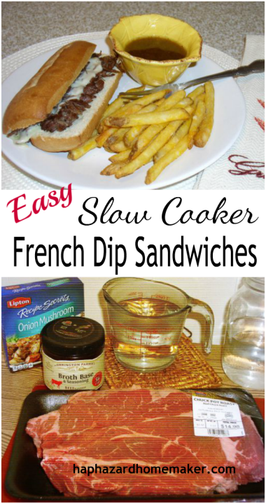 Easy Crockpot French Dip - haphazardhomemaker.com