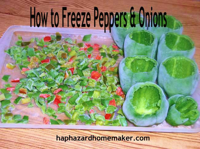How to Freeze Peppers & Onions - haphazardhomemaker.com