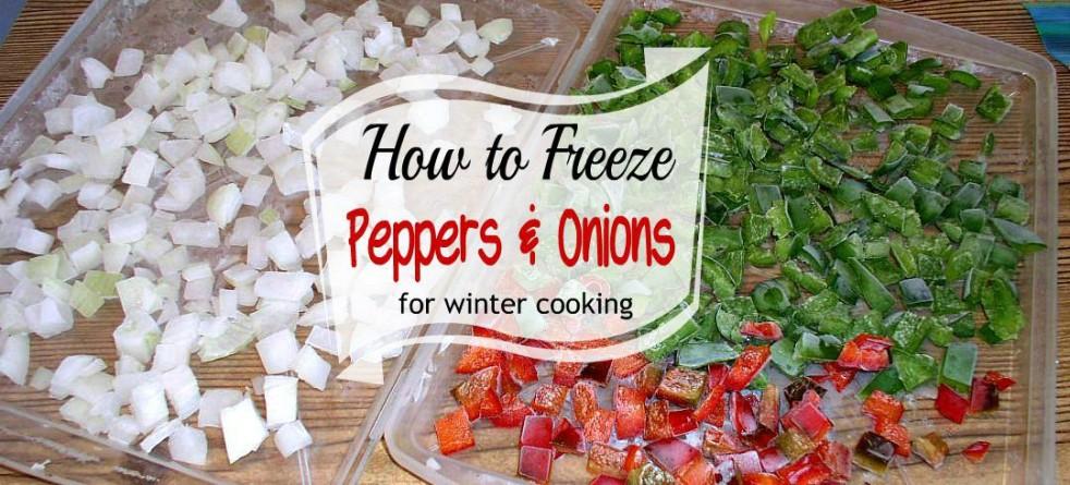 How to Freeze Peppers & Onions - haphazardhomemaker.com