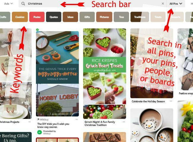 Pinterest Search bar -haphazardhomemaker.com