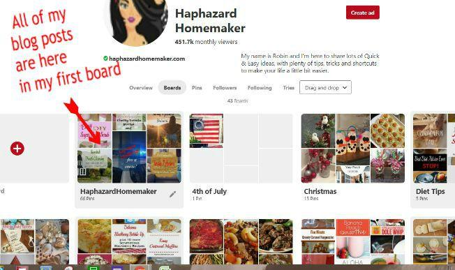 Pinterest boards - haphazardhomemaker.com