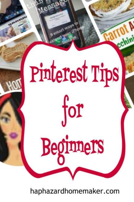 Pinterest Tips for New Bloggers- haphazardhomemaker.com
