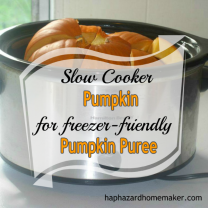 How to Cook Pumpkin in a Slow Cooker -haphazardhomemaker.com